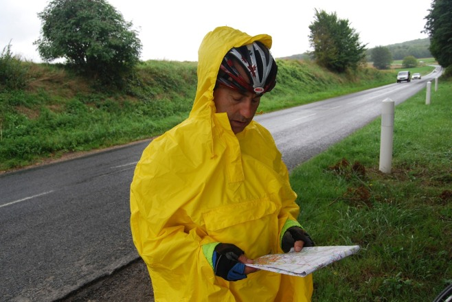 Map reading in rain