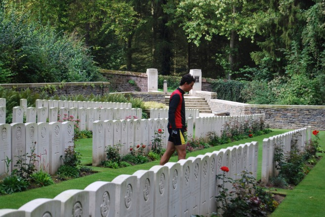 Ronan in WW1 Cemetery