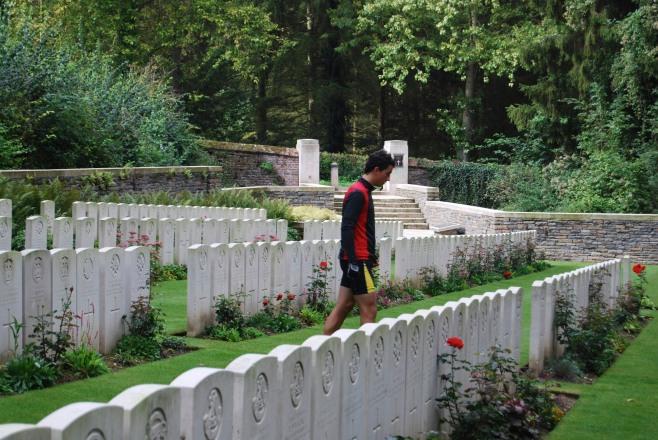 Ronan in WW1 Cemetery