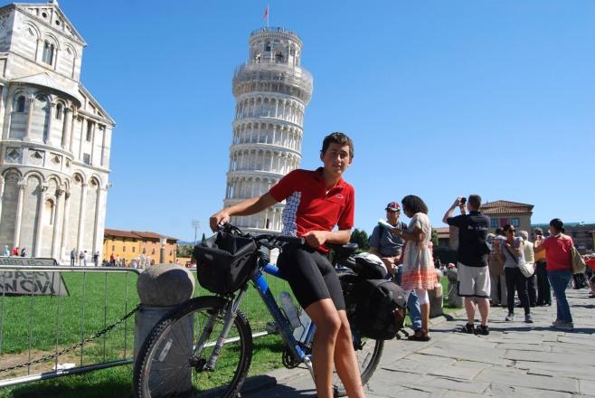 Ronan on bike