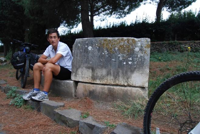 Ronan on Via Appia
