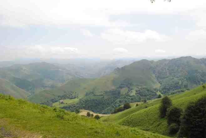 Pyrenees looking back into France