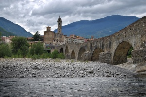 Bridge across the Trebbia at Bobbio