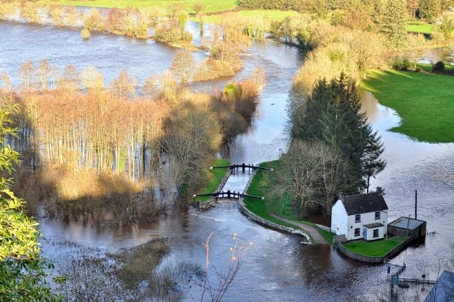 Clashganny in flood
