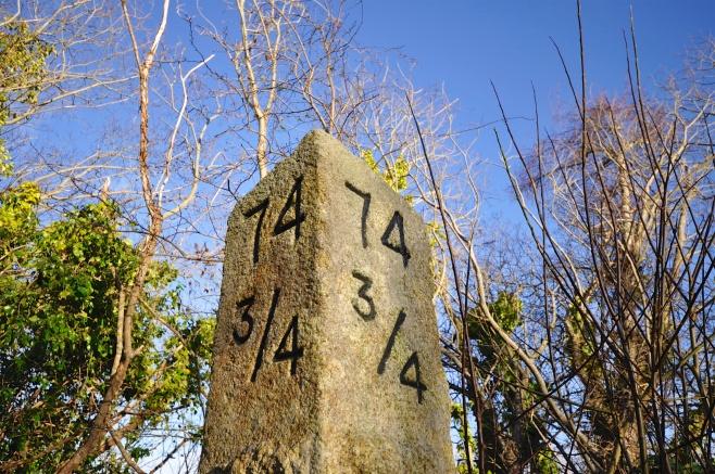 Milestone on old railway line through Borris?