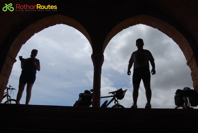 Cyclists silhouette