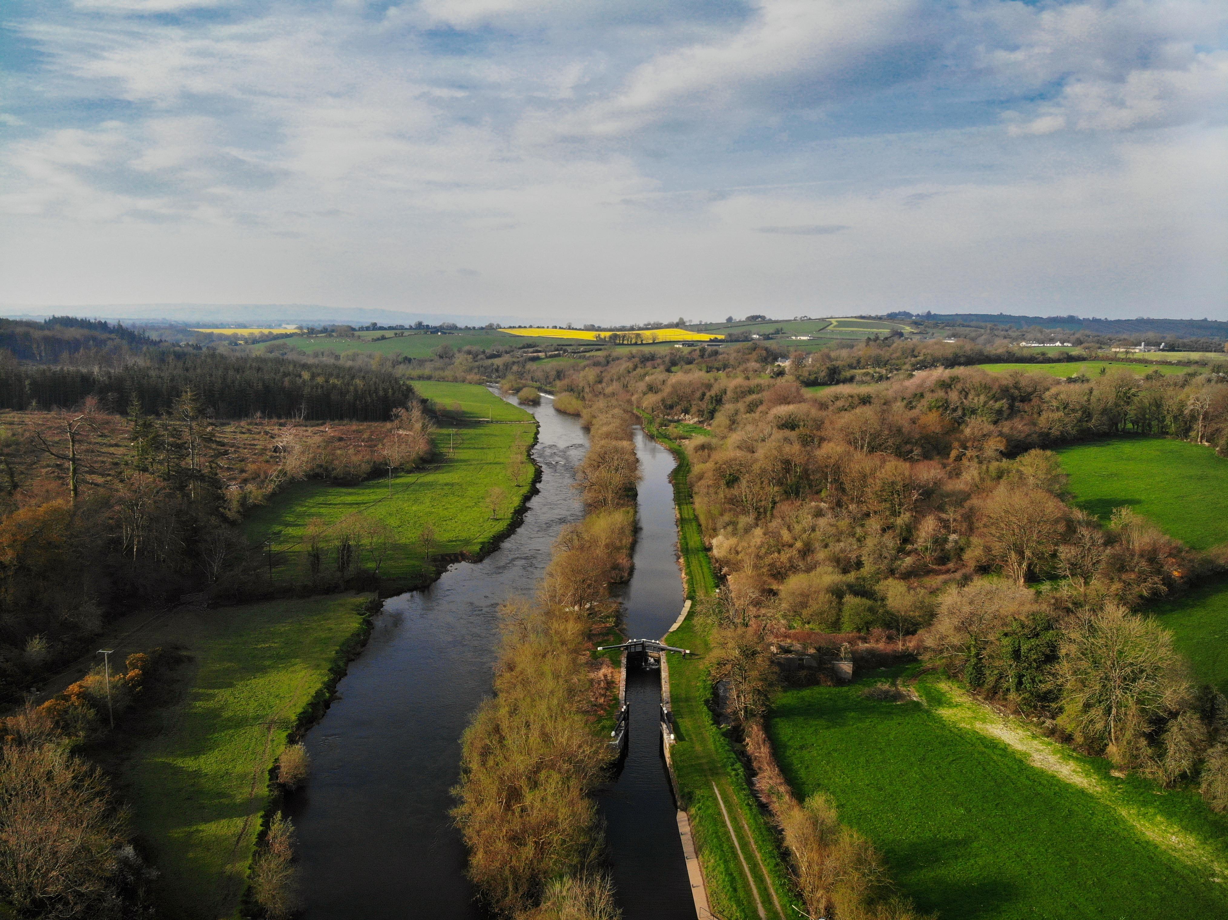 Ballytiglea Lock Gates and the River Barrow